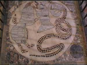 Il serpente e la pantera completano il ciclo musivo pavimentale di San Demetrio Corone