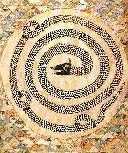 """Il famoso mosaico in """"opus sectile"""" della chiesa di Sant'Adriano"""