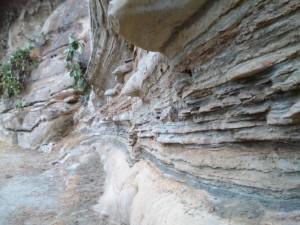 Ecco la stratificazione delle roccia del Borgo